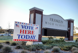 Franklin High School early on the morning of Nov 8