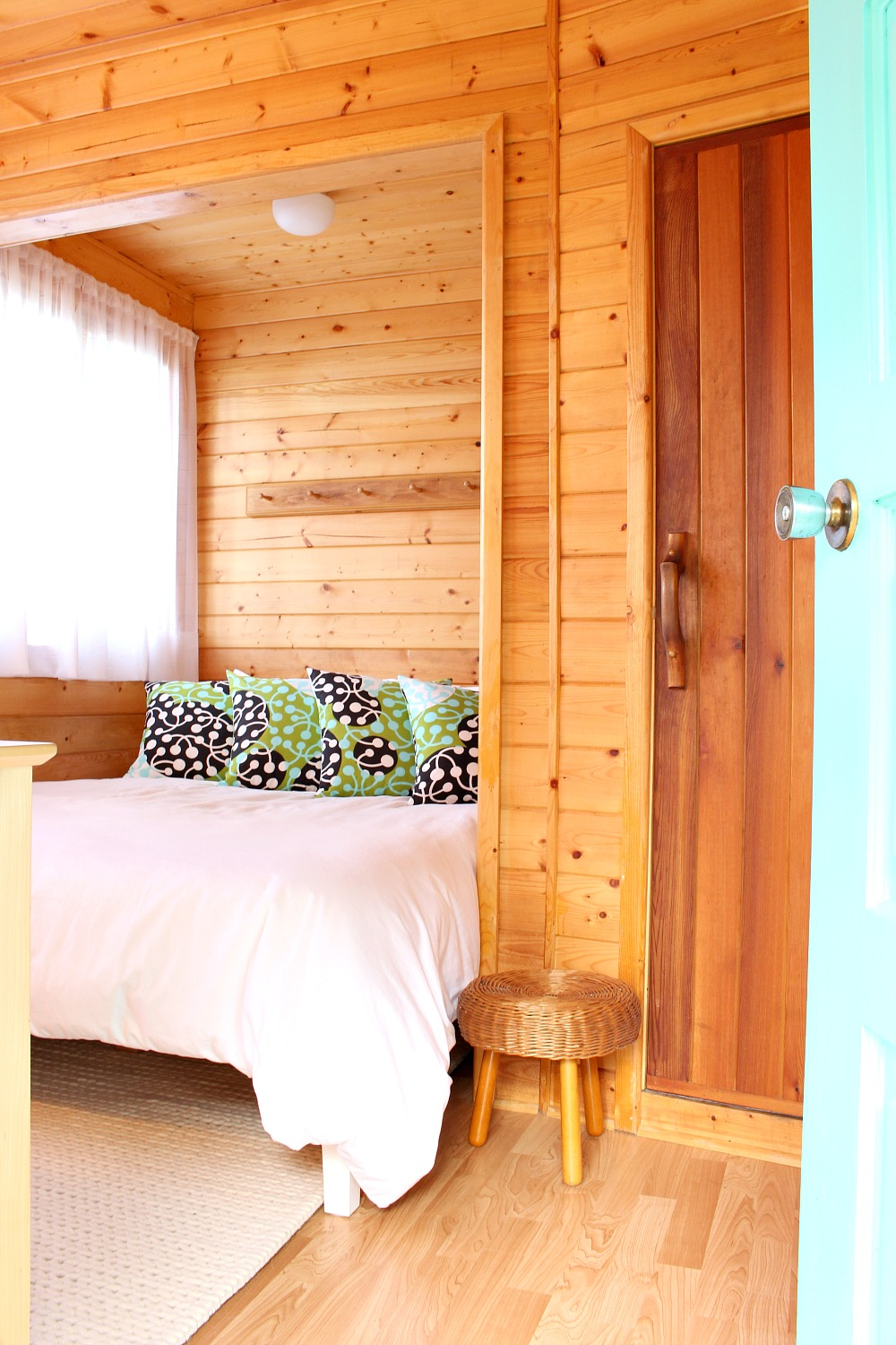 Scandinavian Inspired Bunkie Guesthouse Makeover