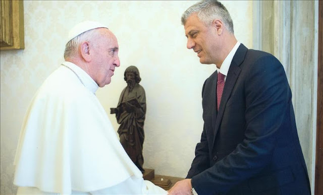 Kosovo President meet Pope Francis