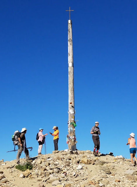 Cruz de Ferro or Iron Cross is one of the most poignant stops along the sacred path. Photo: © Lisa Foradori. Unauthorized use is prohibited.