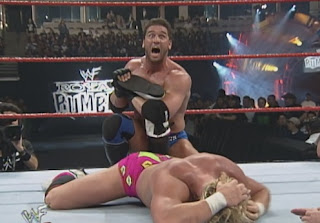 WWE / WWF Royal Rumble 1999 - Ken Shamrock slaps the ankle lock on Bad Bum Billy Gunn
