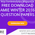 AMIE Winter 2016 Unsolved Question Papers Free Download for Section A&B