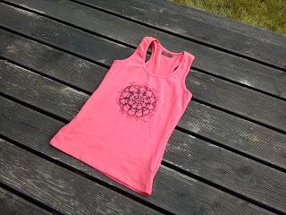 róż mandala joga fitness do ćwiczeń