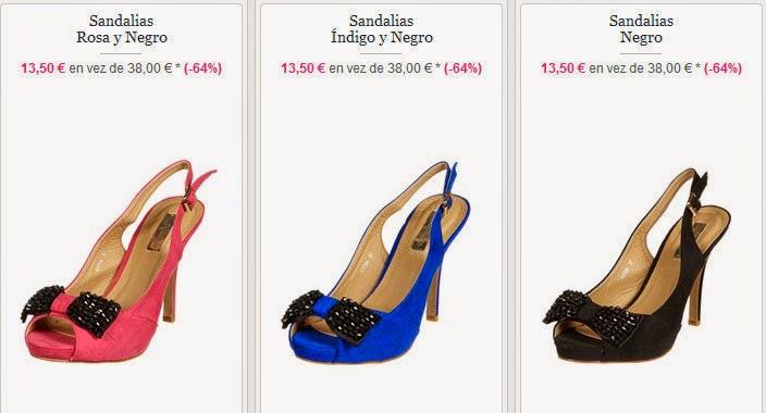 Sandalias de tacón en varios colores también en oferta