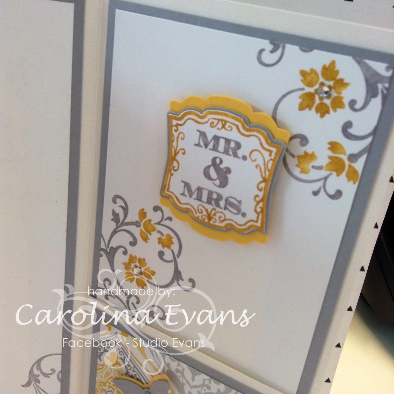 Stampin' Up! Eastern Elegance Wedding Money Card Label Love