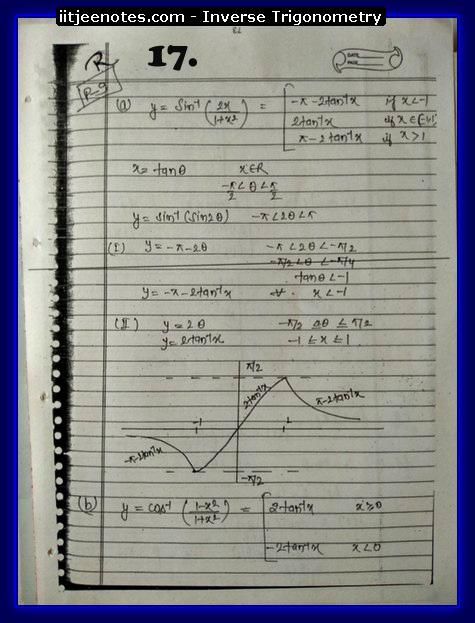 inverse trigonometry notes5