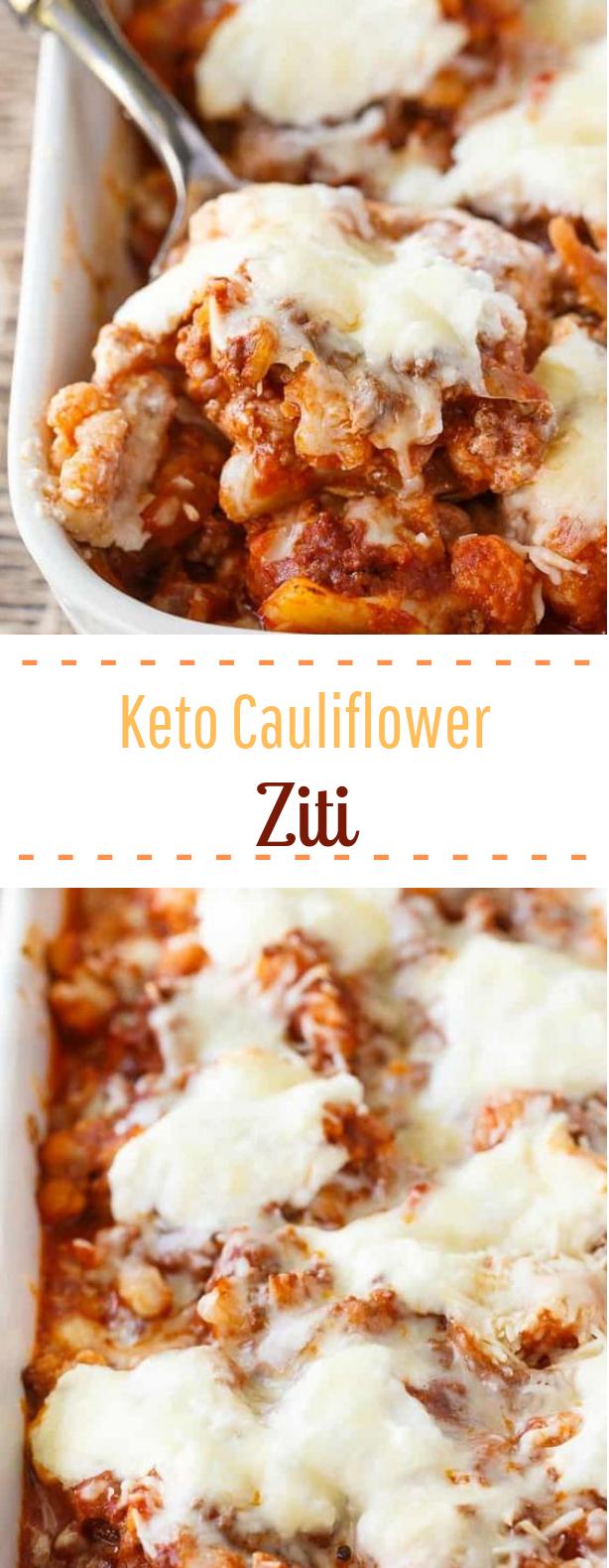 Keto Cauliflower Ziti #keto #lowcarb