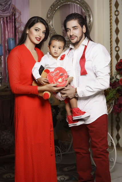 Afiea Nusrat Barsha, Ananta Jalil and their son (Family Photo)