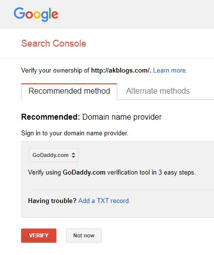 Submitting Blog Sitemap to Google Search Console