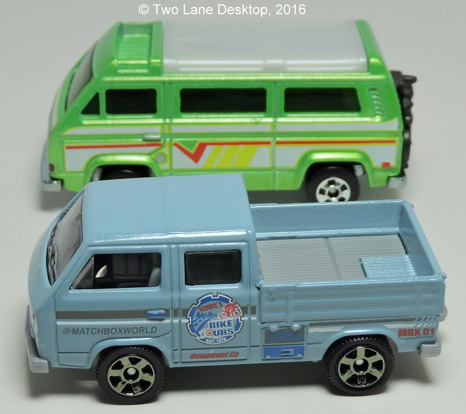 Two Lane Desktop Matchbox Vw Transport Pickup And Hot