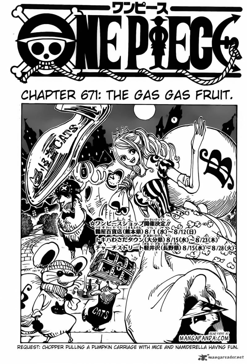 One Piece 671: The Gas-Gas Fruit