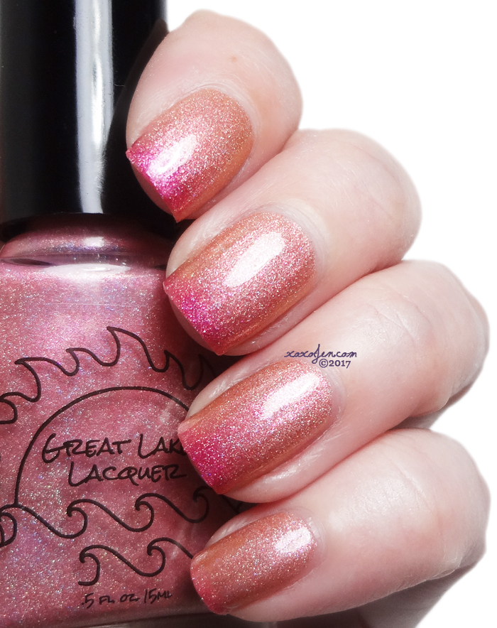 xoxoJen's swatch of Great Lakes Lacquer A Rose Is A Rose. Unless it's A Peach