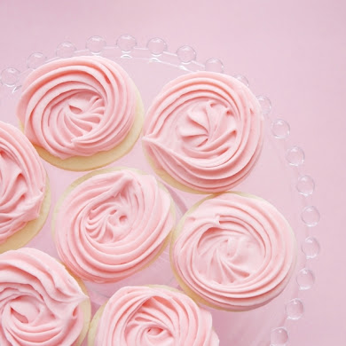 Rose Swirl Vanilla Bean Cookies Recipe