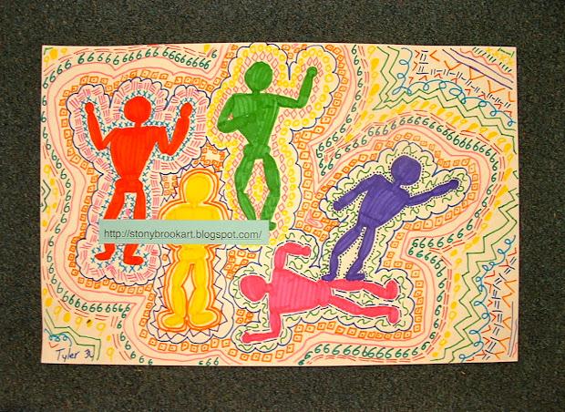 Belton' Artists Keith Haring- Inspired Figures Grade 3