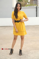 Actress Poojitha Stills in Yellow Short Dress at Darshakudu Movie Teaser Launch .COM 0333.JPG