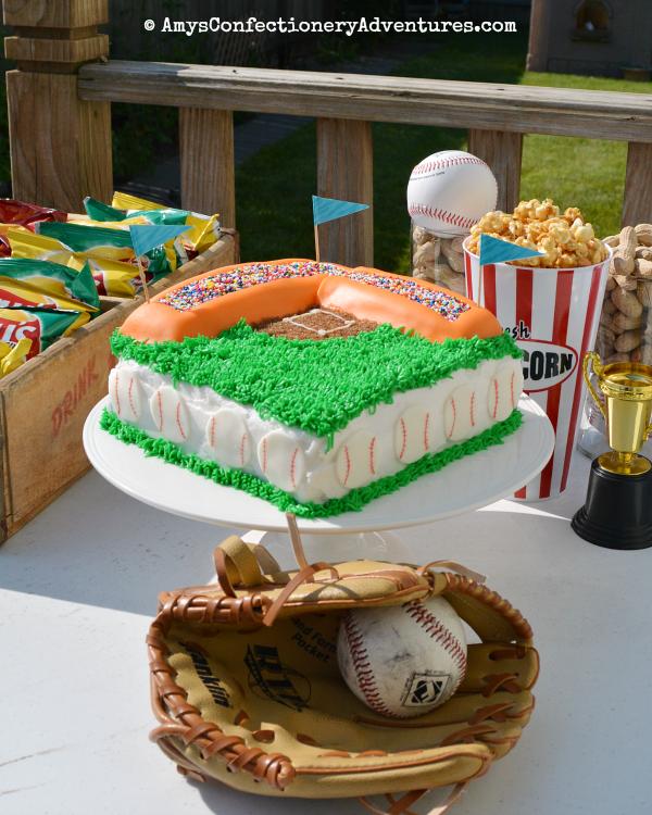 Brilliant Amys Confectionery Adventures Baseball Stadium Cake Funny Birthday Cards Online Necthendildamsfinfo