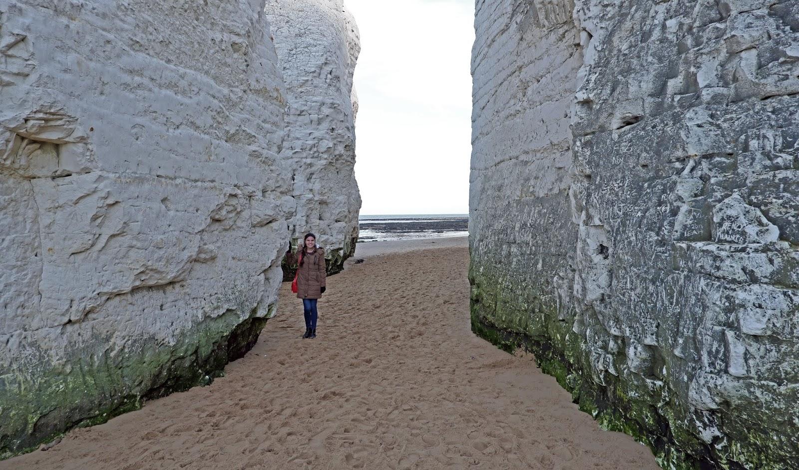 Kat Last exploring Botany Bay, Kent