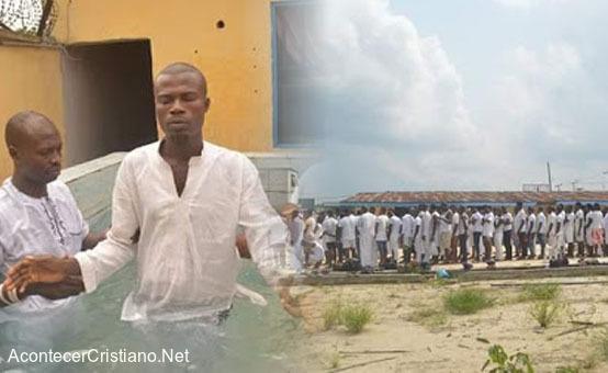 Bautismo en prisión de Nigeria
