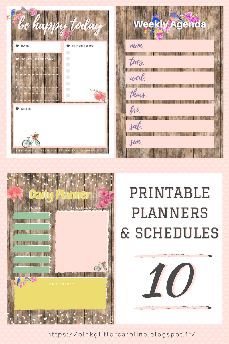 pinkglitter printables 10 planners to do lists workout schedules t l charger. Black Bedroom Furniture Sets. Home Design Ideas