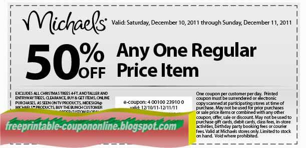 Michaels printable coupons 2019
