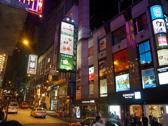Lan Kwai Fong (LKF) at night, Central, Hong Kong