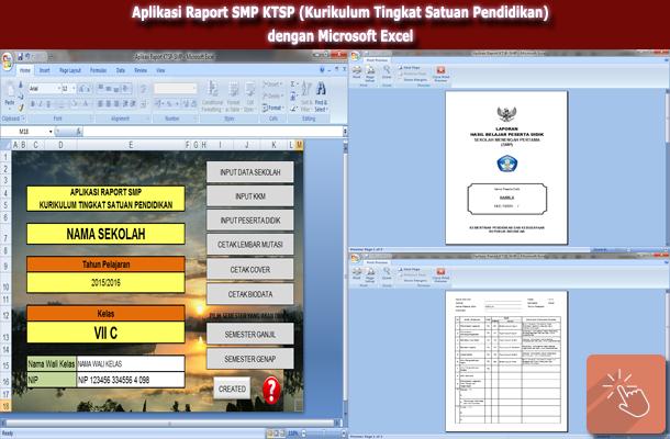 Aplikasi Raport SMP KTSP (Kurikulum Tingkat Satuan Pendidikan) dengan Microsoft Excel
