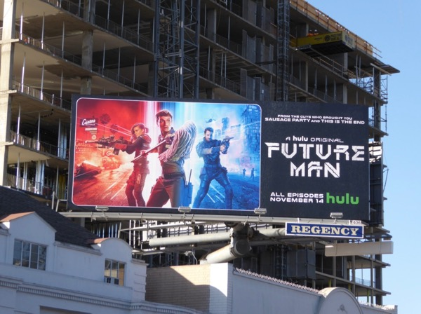 Future Man Hulu series billboard