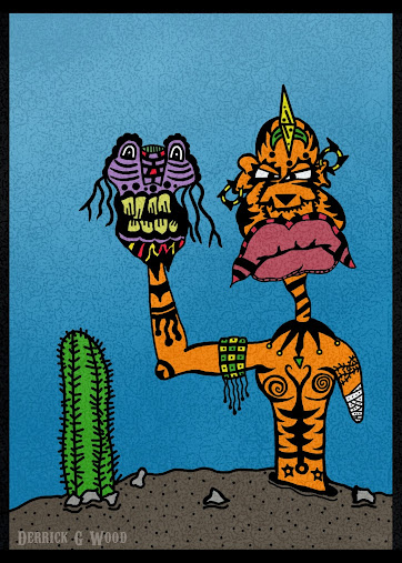 tribal tattoos tatts cactus puppet alien. Wacom Photoshop