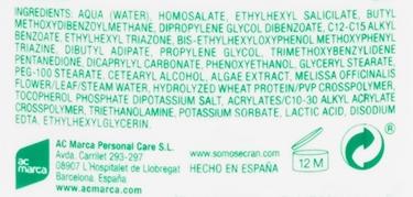 Ecran Sunnique Naturals Ingredientes