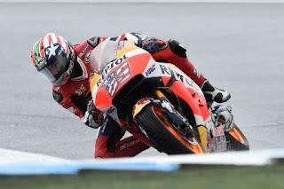 MotoGP Australia: Nicky Hayden Tercepat FP4, Rossi ke-14