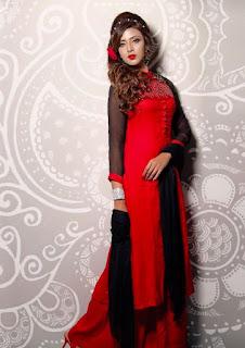 Bidya Sinha Saha Mim Bengali Model Stills Hot In Red Dress