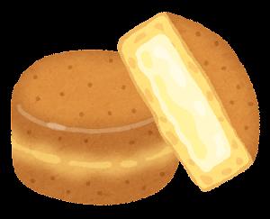 今川焼きのイラスト「クリーム(チーズ)」