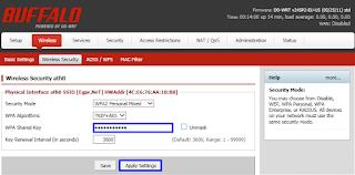 طريقة استقبال الانترنت بسلك وبثه عبر اكسز Buffalo WZR-HP-G300NH