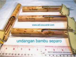 undangan bambu separo depan adi souvenir