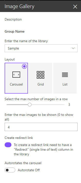SharePoint Image Gallery