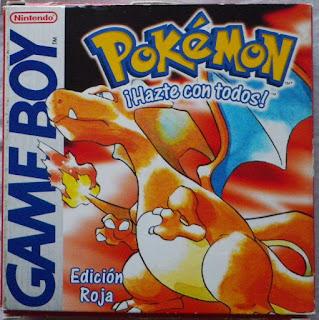 Pokemon Edición Roja - Caja delante