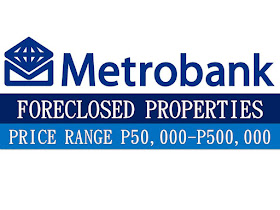 The following are bank foreclosed properties by MetroBank. If you are interested in purchasing any of the property you may contact the bank. You may refer to the table below for the price of property, location, mortgage details and contact person.  We are not property broker or agent, nor are we affiliated to MetroBank. Please contact the person in-charge for the property and transact directly to the bank. Contact details is at the bottom of this list.