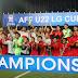 Gaung Champione Bergema saat Timnas Indonesia U-22 Tiba di Soetta