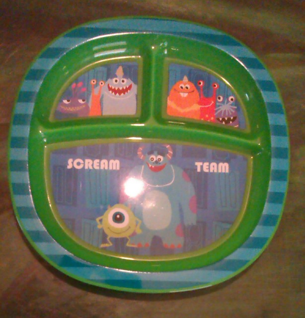 He also loves Mikeu0027s big smile and eye on the bowl and spoon. & Where Roots And Wings Entwine: Munchkin Monsters Toddler Dining Set ...