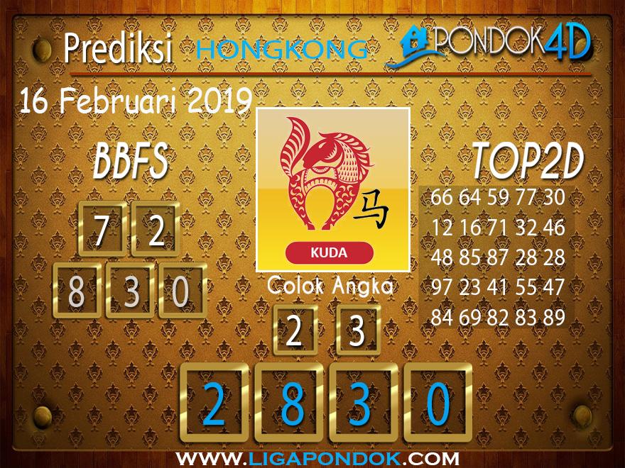 Prediksi Togel HONGKONG PONDOK4D 16 FEBRUARI 2019