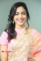 Actress Ritu Varma Pos in Beautiful Pink Anarkali Dress at at Keshava Movie Interview .COM 0143.JPG