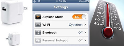 iPhone Tips-ipad adapter-flight mode-thermometer