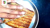 image of cutting sandwich