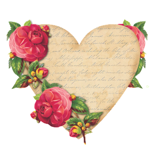 Retro Posters with Roses and Hearts.