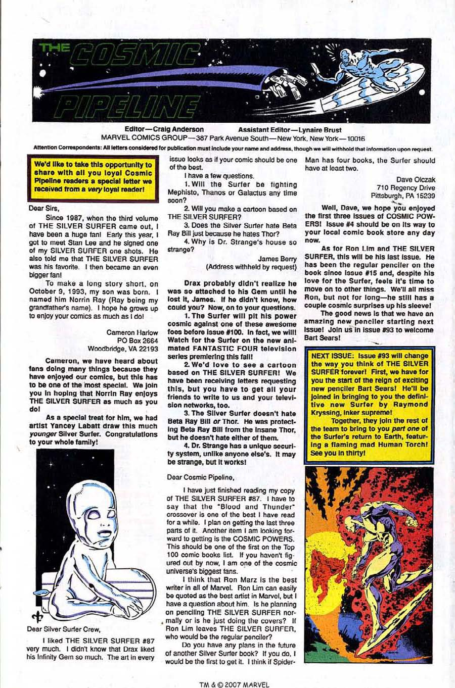 Read online Silver Surfer (1987) comic -  Issue #92 - 33