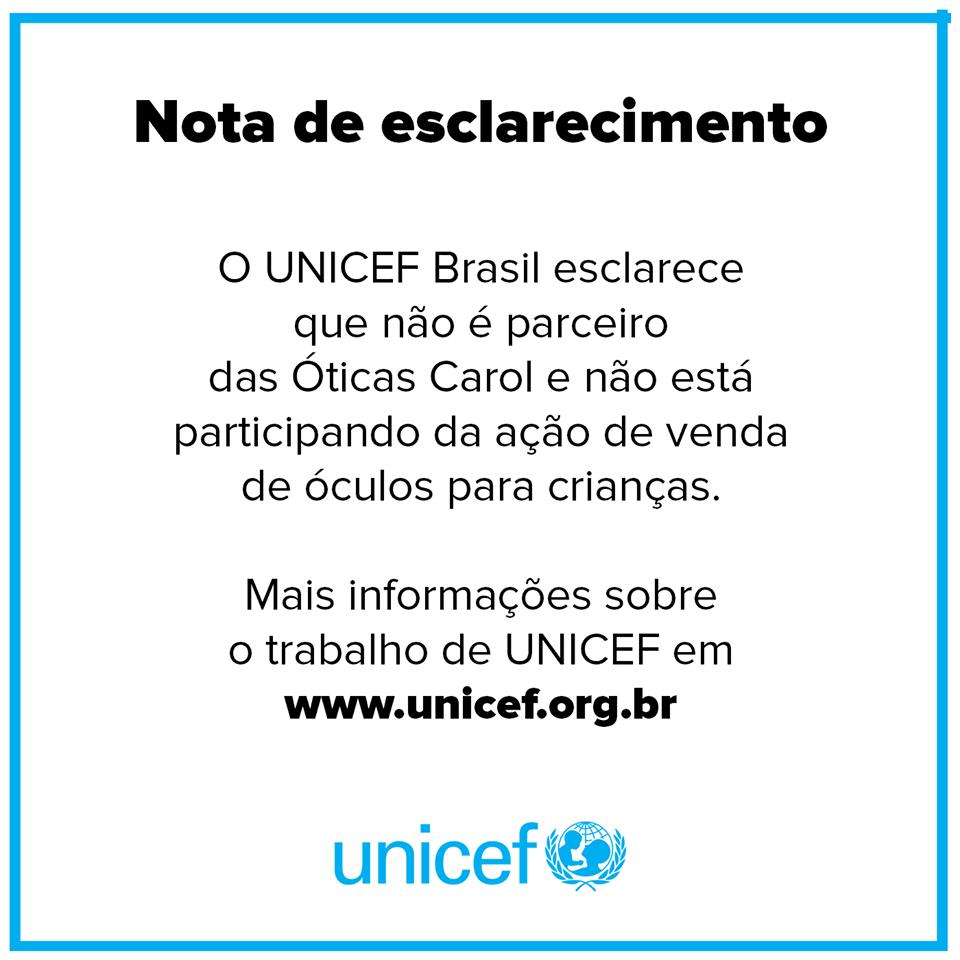 bb70d32ea24b8 Ótica fez parceria com o Unicef para vender óculos a R  49 ...
