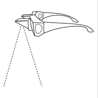 dibujo de gafas prisma