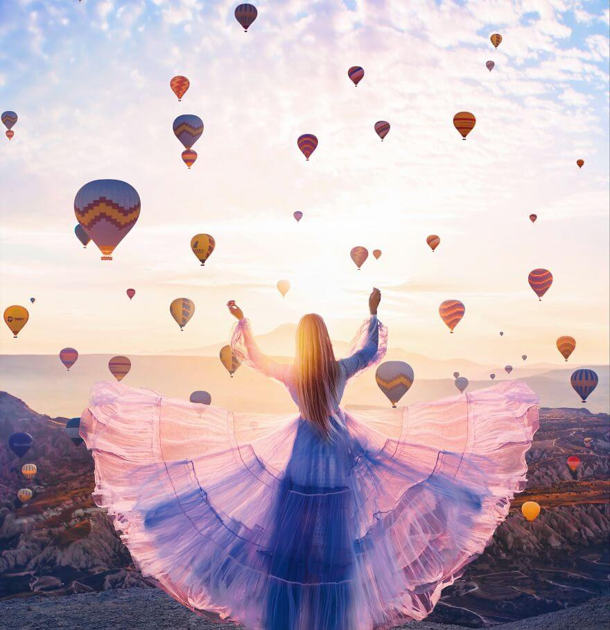 15 Pictures Of Girls In Dresses That Beautifully Match Their Backgrounds - Cappadocia, Turkey. Model Masha
