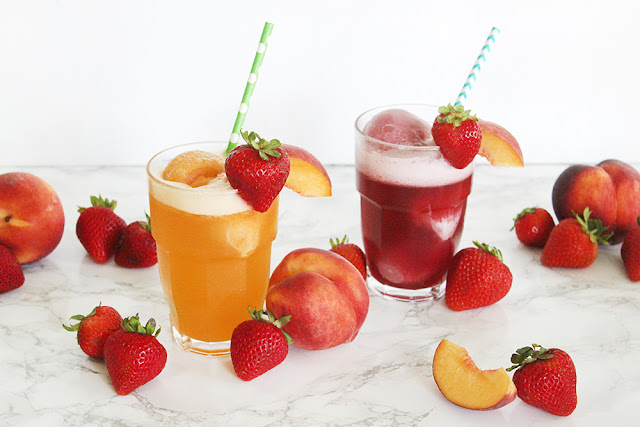 Fruity Sorbet Floats