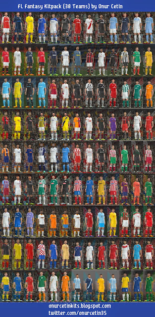 PES 2014 FL Fantasy Kitpack (38 Teams) by Onur Cetin